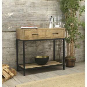 Cove Reclaimed Wood Indian Furniture Console Hall Table With Drawers
