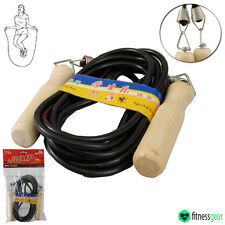 5 Meter Long Skipping Rope Nylon Wooden Handles Group Aid Exercise Fitness