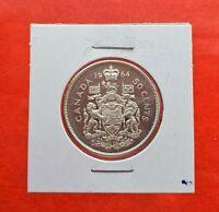 1964 Canada Elizabeth II Laureate/Voyageurs 50 Cents 1/2 Dollar 80% Silver Coin