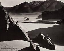 1954 Vintage BRETT WESTON Garapata Beach Rock Mountain Landscape Photo Engraving