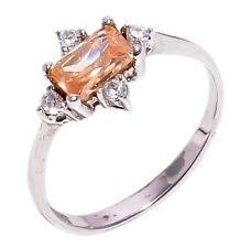Damen 925 Sterlingsilber Natürlich Morganit & Weiß Topas Edelstein Ring NLG-1549