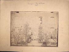 Photo Albumine Langres rue du repos femme fourrure enfants jouets soldat 1895