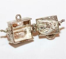 Organ Grinder Opening To Circus Monkey Sterling Silver Vintage Bracelet Charm
