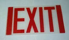 New Exit Sign Replacement Glass 6 78 X 12