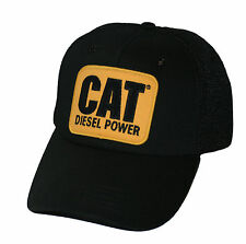 "Caterpillar CAT Equipment Vintage ""Diesel Power"" Black Mesh Retro Style Cap/Hat"