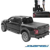 JDMSPEED Lock Hard Tri-Fold Tonneau Cover For 2015-19 Ford F-150 5.5FT Short Bed