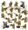 16 Pcs Minifigures WW2 Military SWAT Army Weapon Soldier Marines Lego MOC