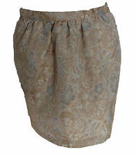 Forever 21 Gold Jacquard Print Side Pockets Flared Mini Skirt S Formal Party