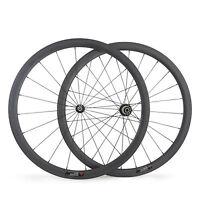 700C Carbon Wheels Clincher 38mm 1390G LightWeight Racing Road Bike Wheelset