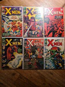 X-men original comics bundle 15-18 20 & 21 first appearance. Master mould.