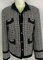 White House Black Market Tweed Blazer Women's Size 10 Button Up Suit Jacket