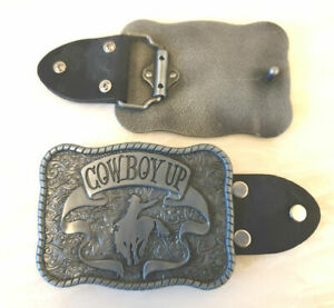 Cow Boy Up-Western Belt Buckle-Horse Riding-Bull Fighter Rodeo-Unisex-Very Solid
