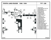 TOYOTA LAND CRUISER FIT 1990 1991 1992 93 1994 STYLE INTERIOR WOOD DASH TRIM KIT