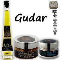 Gudar Truffle Gift Basket Extra Virgin Olive Oil, Sea Salt and Rosemary Honey