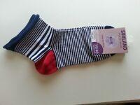 Chaussette Femme De Printemps Stripes Marine