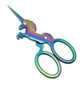 Embroidery Scissors Unicorn Sewing Sharp Rainbow Small 11.5cm Cute Craft Fabric