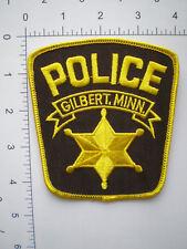 MN Minnesota Gilbert Police patch