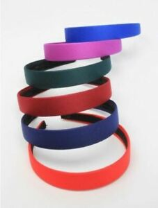 Girls Childrens 2.5cm Wide Hair Band Alice Band School Colours Green Navy Red
