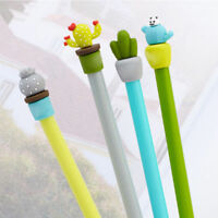 Office School Supply 2Pcs Cute Cactus Design Gel Pen Ballpoint Writing Pen Gift