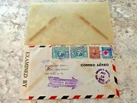 Vintage Postage Envelope 1942 - Egypt to New York City - Rare Marks/Stamps