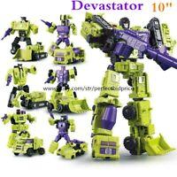 New In Stock Robot Combiner Devastator 6 In 1 Engineering Action Figure Kids Toy