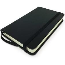 Small Pocket Notebook, Black Leather Bound, Hardcover Many Page Journal, Mini Pr