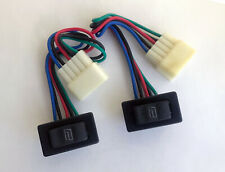 2 Rs311 Universal Power Window Rocker Switche With 12v 5 Wires And Socket