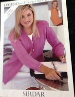 sirdar ladies  Knitting Pattern  4ply Lacey Long Sleeved Cardigan 5864 Size
