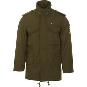 LAMBRETTA Men/'s Parka Jacket Khaki RRP £120 NOW £64.99