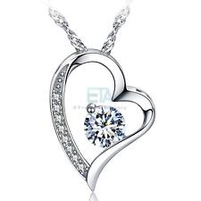 14K WHITE GOLD FOREVER LOVE NECKLACE - LADY WOMEN VALENTINE'S DAY BIRTHDAY GIFTS