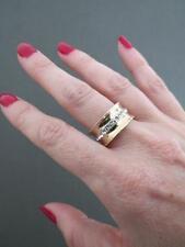 Emporio Armani Silver Gilt Paste Ring