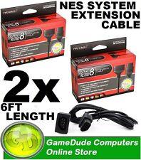 2x Retro-bit Super Retro8 NES Cable Extension Cable 6FT (812820016679) [F03]
