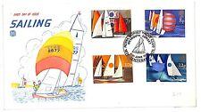 T260 1975 QEII FDC GB Dorset Weymouth Sailing Sport Regional Cover PTS