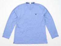 Brooks Brothers Mens Size M Cotton Blue V-Neck T-Shirt