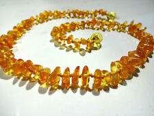 Oval Amber Strand/String Costume Necklaces & Pendants