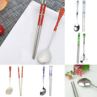 Korean Stainless Steel Spoon & Chopsticks Set Tableware 5 Styles-Gifts Hot