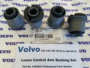 Volvo 142 - 144 - 145 -70-74 164S 69-74 - Front Lower Control Arm Bushing Set