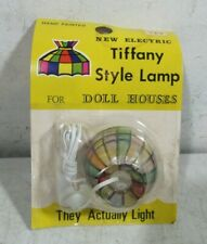 Vintage 1970's Electric 12 Volt Tiffany Style Hanging Dollhouse Lamp New NOS