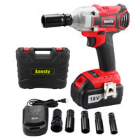 "Cordless Brushless Impact Wrench 3.0A Li-ion 1/2"" Impact Wrench Ratchet Nut Gun"