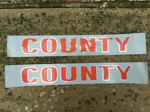 COUNTY 654 TANK DECALS PRE-FORCE FORD TRACTOR CONVERSION FARM MODEL WORKSHOP