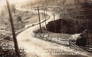 LPS63 GRANTSVILLE Maryland Winding National Road Westward from Puzzly Run RPPC