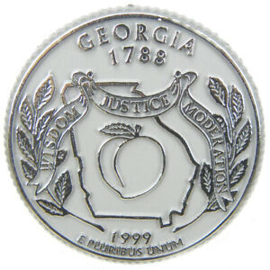 Georgia State Quarter Magnet by Classic Magnets