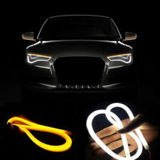 60CM Red DRL Turn Signal Light Strip Yellow Sequential Switchback LED Tube Lamp