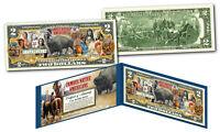 FAMOUS NATIVE AMERICANS American Buffalo Bison Genuine Legal Tender U.S. $2 Bill