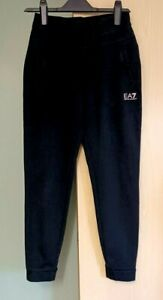 Emporio Armani EA7 Jogging Sweatpant Cuff Bottoms Black Size  S Ladies Womens