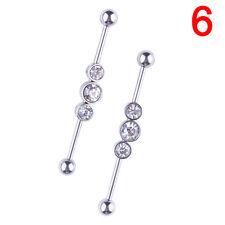 Industrial bar andamios oreja barra anillo varios Styles.ear piercing joyería RZ