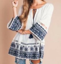 Free People Counting Stars Tunic - Ivory Combo  Size XS/S Org 198$