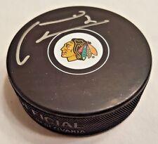 Marian Hossa Autographed Chicago Blackhawks Puck #2