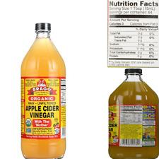 Organic Raw Apple Cider Vinegar 32 fl oz Bragg Organic Apple Vinegar With Mother