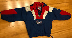 Vintage NEW ENGLAND PATRIOTS STARTER NFL Hooded Pullover Jacket Youth Kids Small